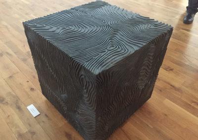 """Black Tumulus"", Kilkenny Limestone, 50 x 50 x 50 cm"